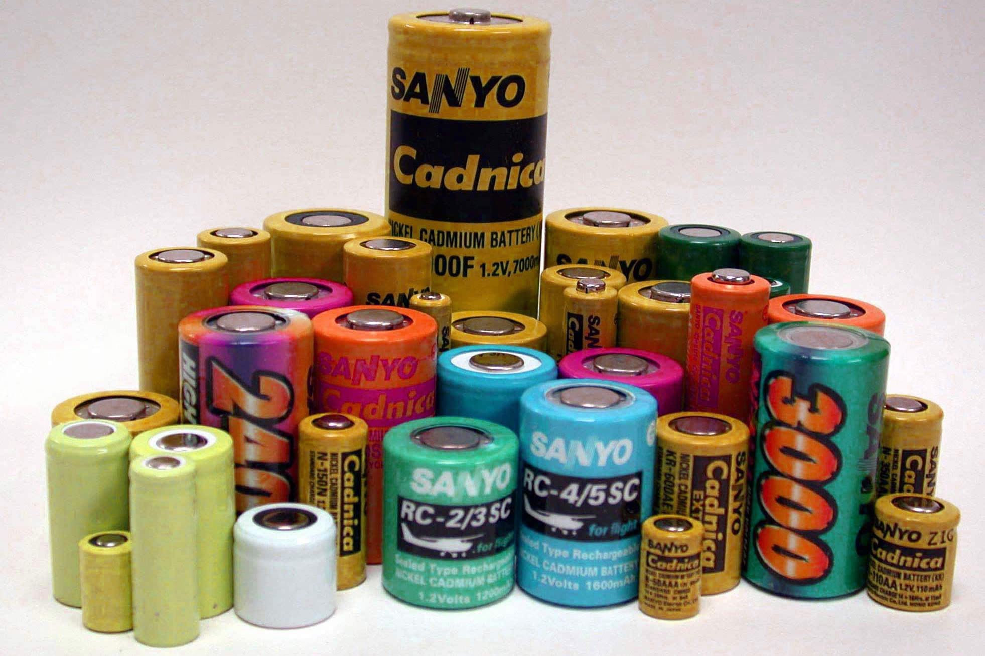 باتری های سلول نیکل-کادمیوم